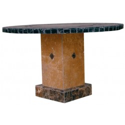 Troy Square Mosaic Stone Tile Bar Height Table Base