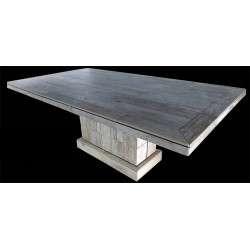 Troy Rectangle Mosaic Stone Tile Dining Table Base