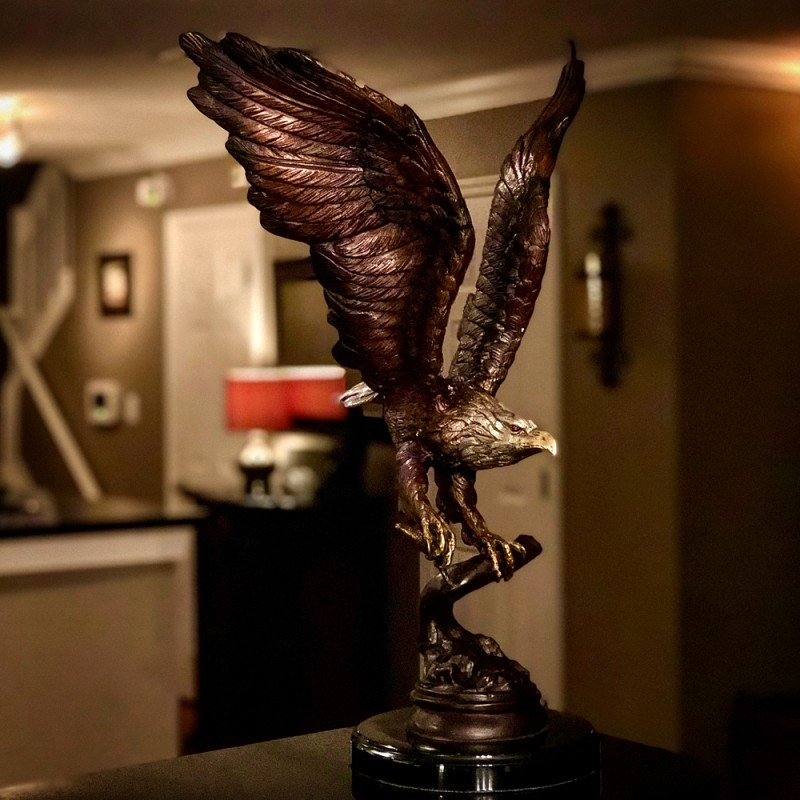 Bronze Table Top Bronze Flying Eagle