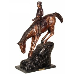 Bronze Table Top Frederick Remington Mountain Man Sculpture