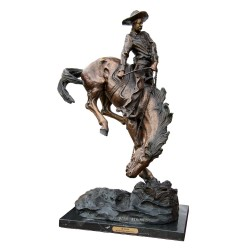 Bronze Table Top Frederick Remington Outlaw Sculpture
