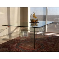 Angled Glass Dining Table...