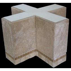 Cross Mosaic Stone Tile Coffee Table Base