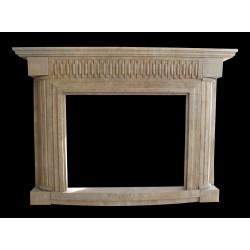 Modern Beige Marble Fireplace Surround