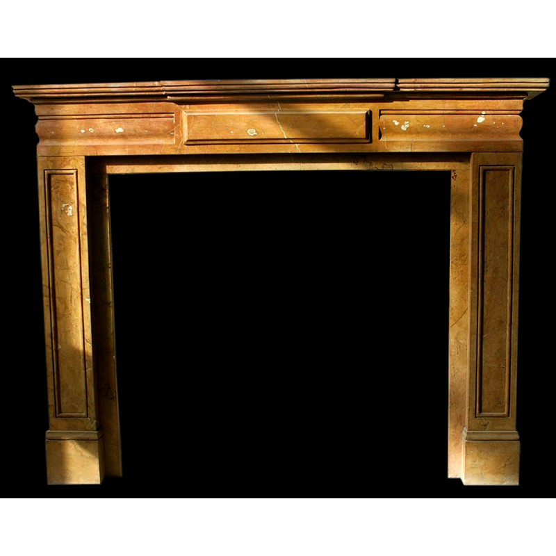 Sunset Red Modern Marble Fireplace Surround
