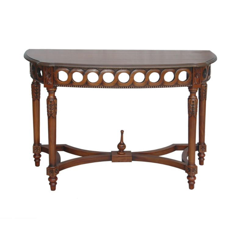 Neoclassical Demilune Console, Hallway or Serving Table