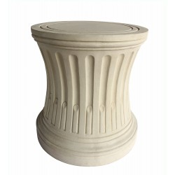 French Fluted Limestone Dining Table Base
