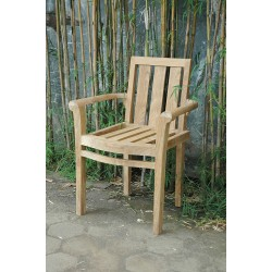 Teak Classic Stacking Armchair (sold per set of four)