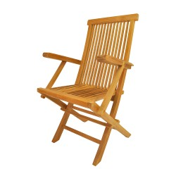 Teak Classic Folding Armchair (sell & priced per 2 chairs only)