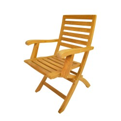 Teak Andrew Folding Armchair (sell & priced per 2 chairs only)