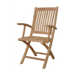 Teak Tropico Folding Armchair (sell & priced per 2 chairs only)