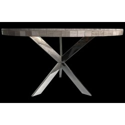 Cross Stainless Steel Dining Table Base (with Color Options) - Shown with Optional Table Top