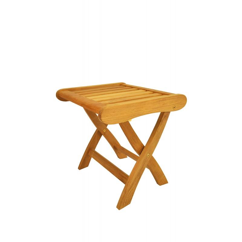 Teak Katana Folding Backless Chair
