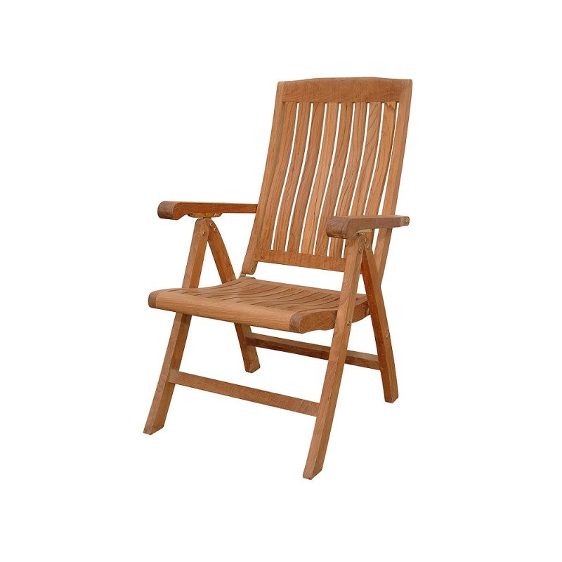 Teak Katana 5-Position Reclining Folding Armchair