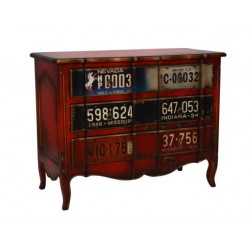 Artisan Custom License Plate Distressed Chest