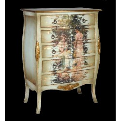 Artisan Custom Distressed Women Muriel Painted Finish Chest