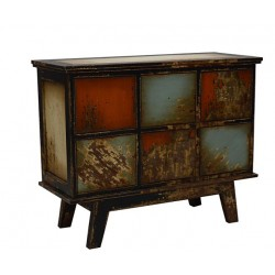Artisan Custom Color Distressed Finished 6-Drawer Chest