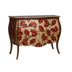 Artisan Custom Fall Leaves Distressed Finished Chest