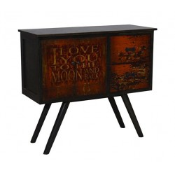 Artisan Custom I Love You to Moon & Back Distressed Finished Cabinet