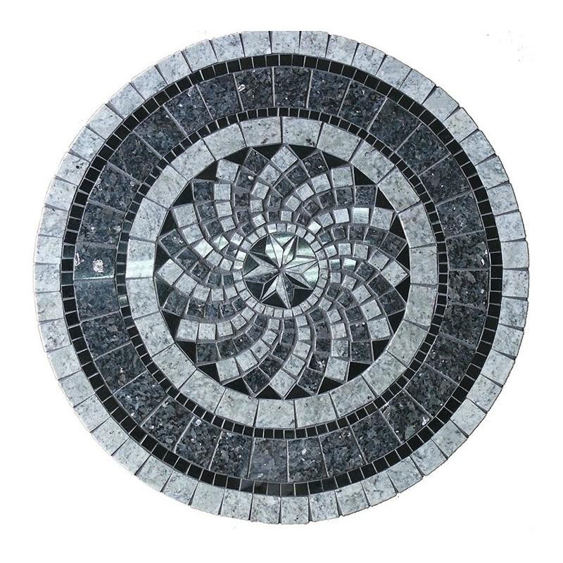 Gray North Star Mosaic Table Top