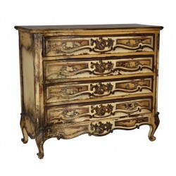 Artisan Custom Distressed Antique Finish 3-Drawer Chest