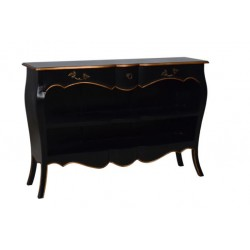 Artisan Custom Black with Gold Trim Finished Cabinet