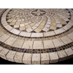 North Star Mosaic Table Top - Side View