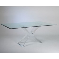 Butterfly Acrylic Dining Table Base (with or without top)