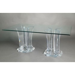 Four Towers X 2 Acrylic Dining Table Base (with or without top)