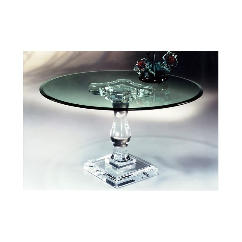 Corintian Acrylic Dining Table Base (with or without top)