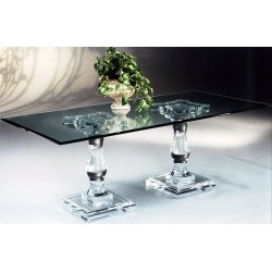 Corinthian Double Acrylic Dining Table (with or without top)