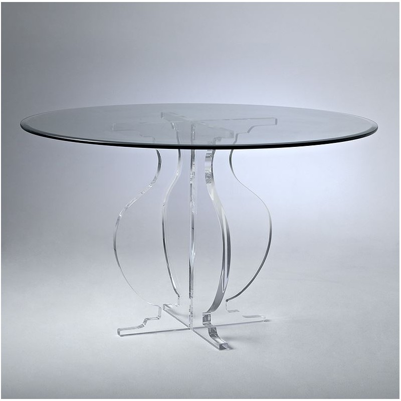 Athens Acrylic Dining Table Base (with or without top)
