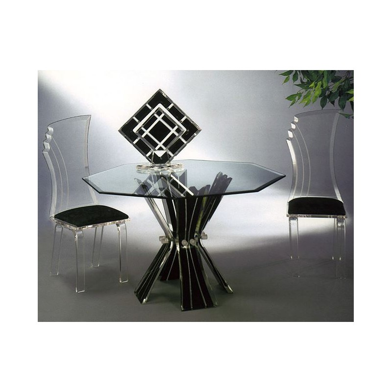 Decolors Acrylic Dining Table 12 Color Options (with or without top)