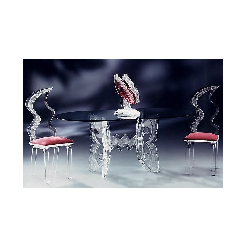 Twin Butterfly Acrylic Dining Table (with or without top)