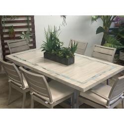 Velen Aqua Mosaic Stone Tile Table Top