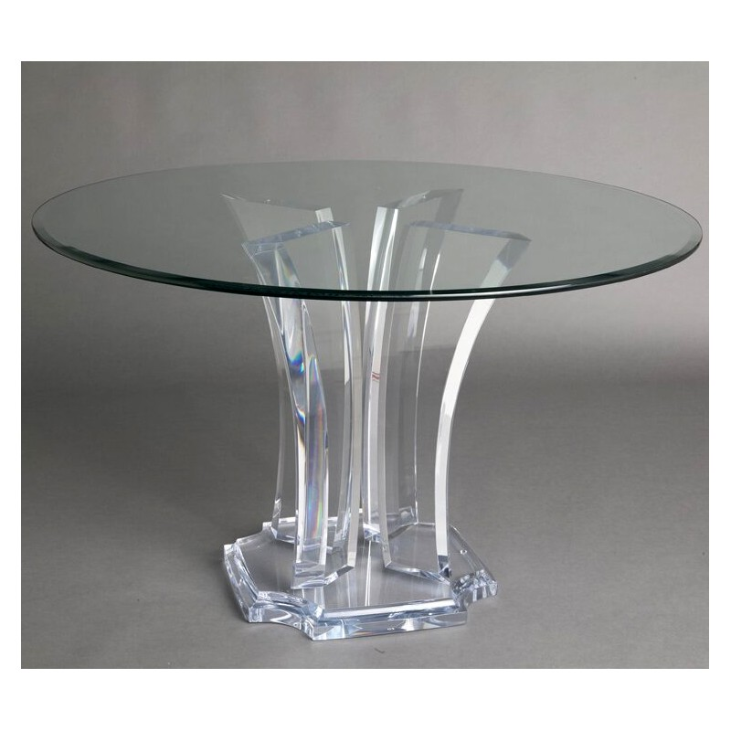 Milano Acrylic Dining Table Base (with or without top)