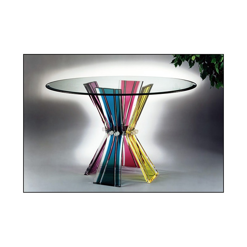 Colors Acrylic Dining Table 12 Color Options (with or without top)