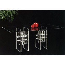 Twin Towers Acrylic Dining Table Base Set (with or without top)
