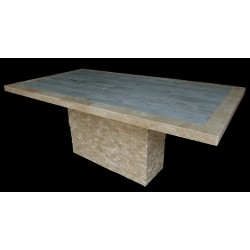 Vintage Style One Mosaic Table Top - Shown with Optional Table Base
