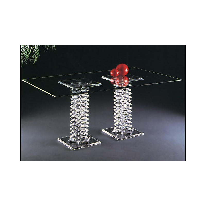 Roman Dining Acrylic Dining Table Base Set (with or without top)
