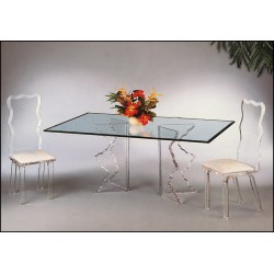 Jagged V Shape Acrylic Dining Table (with or without top)