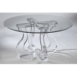 Egyptian Thick Acrylic Dining Table (with or without top)