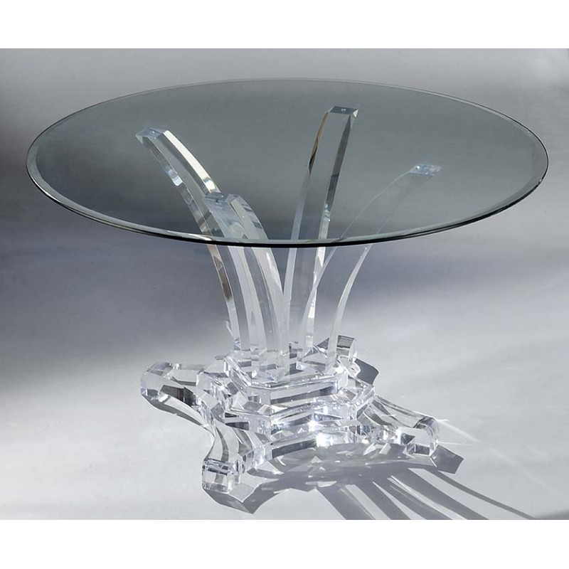 Denver Thick Acrylic Dining Table Base (with or without top)