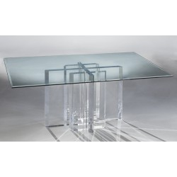 Munich Thick Acrylic Dining Table Base (with or without top)