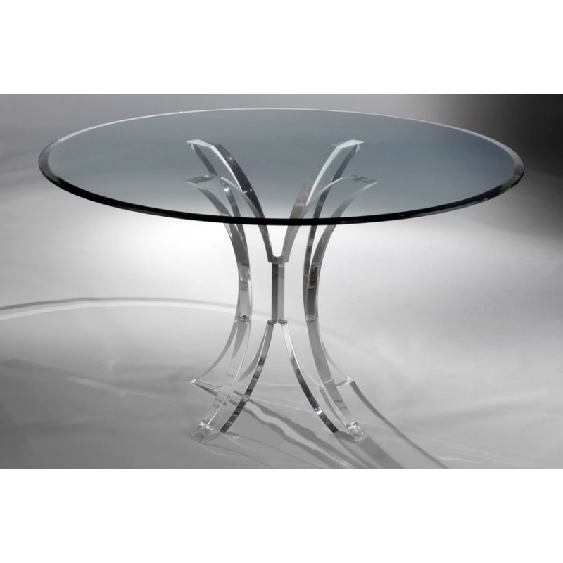 Olivia Thick Acrylic Dining Table Base (with or without top)