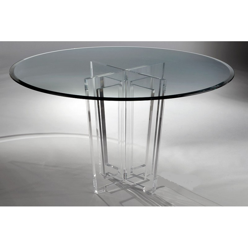 Four Cut Outs Acrylic Dining Table Base (with or without top)