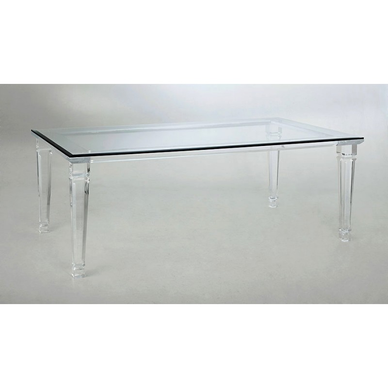 Spain Thick Acrylic Dining Table
