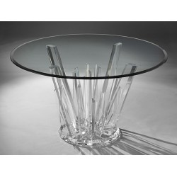 Burst Acrylic Dining Table Base (with or without top)