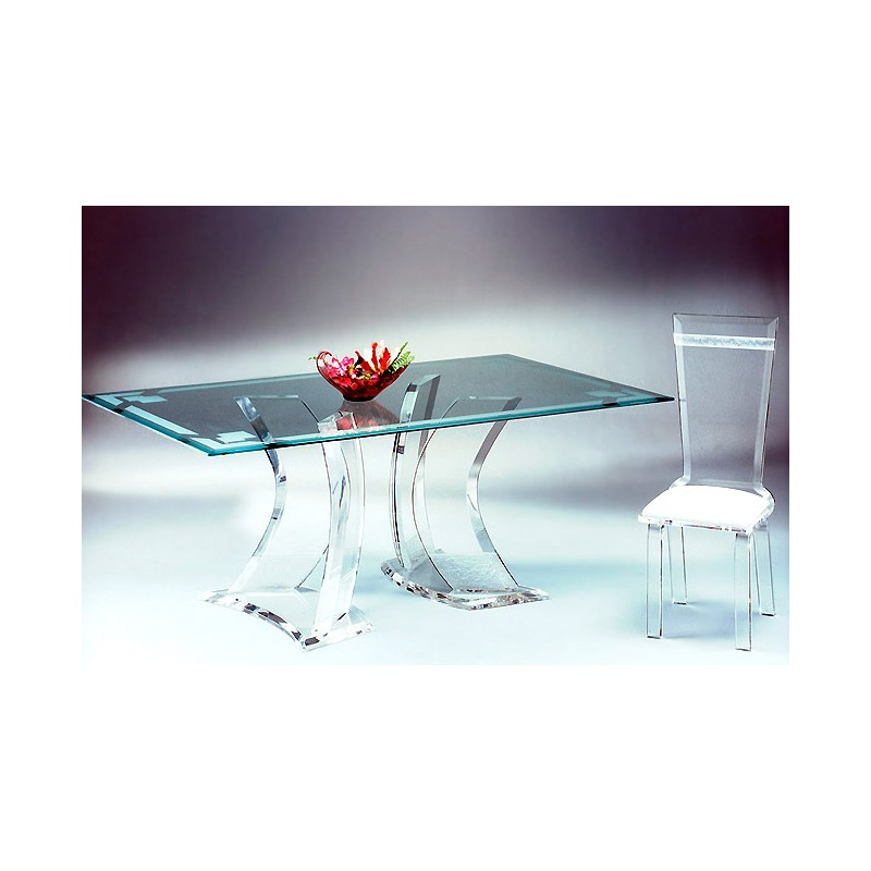 Two Towers Acrylic Dining Table (with or without top)