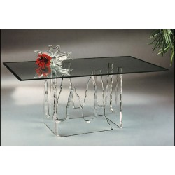 Frozen Icicle Acrylic Dining Table (with or without top)